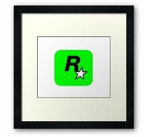 Rockstar Logo Lime Green Framed Print