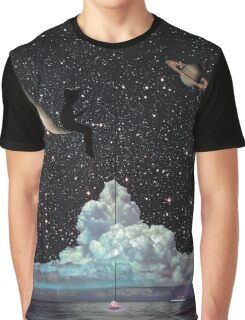 Late Night Fishing Graphic T-Shirt