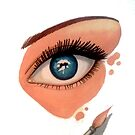 Gouache Eye by AlanZinn