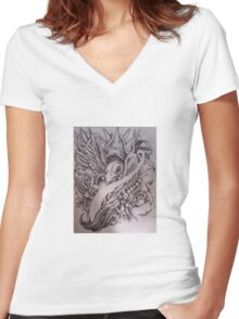 King of bird Women's Fitted V-Neck T-Shirt