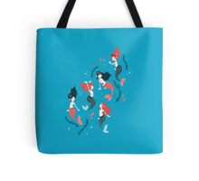 Tattooed Mermaids  Tote Bag
