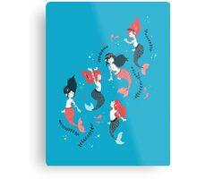 Tattooed Mermaids  Metal Print