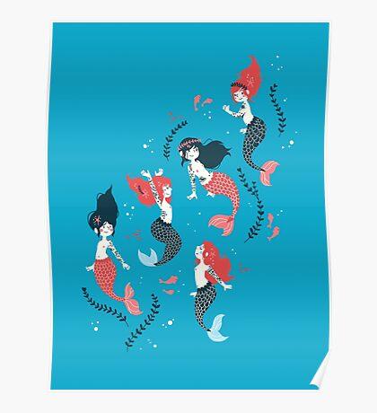 Tattooed Mermaids  Poster