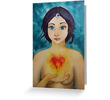 """""""The head is too wise. The heart is all Fire"""" Greeting Card"""