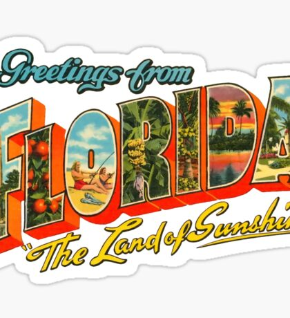 Greetings from Florida, The Land of Sunshine Sticker