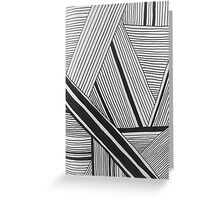 Line Pattern Greeting Card