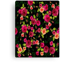 """BRIGHT ROSE GARDEN"" Art Deco Print Canvas Print"