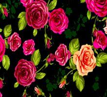 """BRIGHT ROSE GARDEN"" Art Deco Print Sticker"