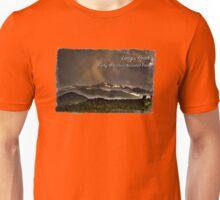 Longs Peak in Mist and Rain Unisex T-Shirt