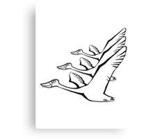 Vogel fliegen gans ente formation  Canvas Print