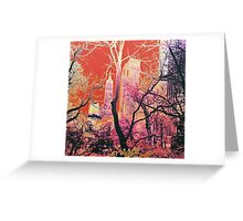 New York Central Park USA Abstract Design Sunset Greeting Card