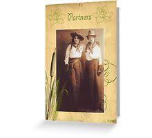 Vintage Western Cowgirl Partner Friend  Greeting Card