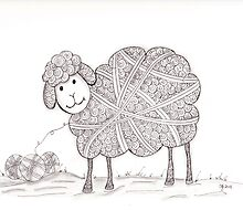 Tangled Sheep by Christianne Gerstner