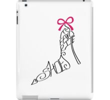 Typography Design.Woman shoes from words iPad Case/Skin