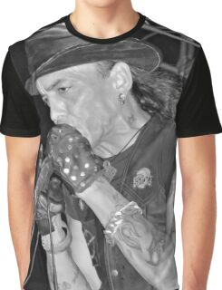 Stephen Pearcy from RATT B&W Graphic T-Shirt