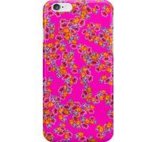 Flowers Random Fill Pattern HotPink iPhone Case/Skin