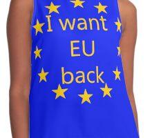 I want EU back Contrast Tank