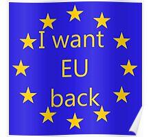 I want EU back Poster