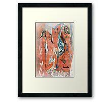 picasso graffiti # 9 Framed Print