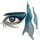 Gouache Eye 2 by AlanZinn