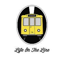 Berlin U-Bahn Train - Life on the Line - Photographic Print