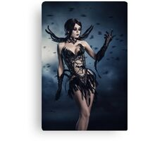 Corvus - gothic style Halloween look  Canvas Print