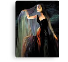 Lovely Morticia Canvas Print