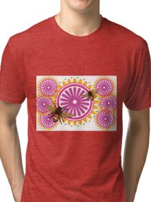 Abstract Honey Bee Flower Art Tri-blend T-Shirt