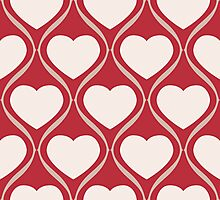 Ogee Heart Bone: Red Mocha Photographic Print