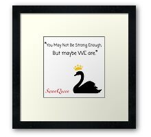 Once Upon A Time SwanQueen Framed Print