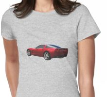 C-6 Corvette and the Cosmos Womens Fitted T-Shirt