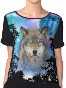 Timber Wolf MidNight Forest Chiffon Top
