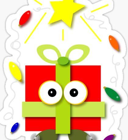 Gifted Kawaii Cartoon Christmas Present Sticker
