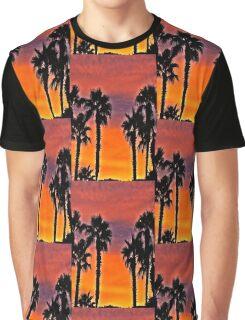Palms At Sunset Graphic T-Shirt