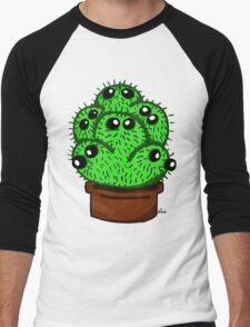 Cute 6 Headed Cactus Men's Baseball ¾ T-Shirt