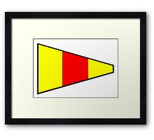 Number 0 Pennant Framed Print