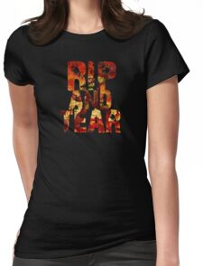 Doom - Rip And Tear Womens Fitted T-Shirt