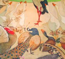 'Birds' Art Nouveau/Vintage Painting (Reproduction) Sticker