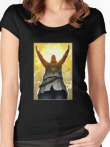 Knight Sun Praising Women's Fitted Scoop T-Shirt