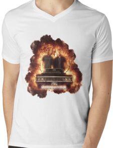 Supernatural Explosion 3 Mens V-Neck T-Shirt