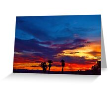 Multi Color Sunset Greeting Card