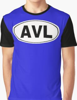 AVL Asheville North Carolina City Pride Graphic T-Shirt