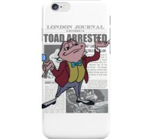 Toad Arrested iPhone Case/Skin