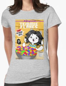 temmie flakes Womens Fitted T-Shirt