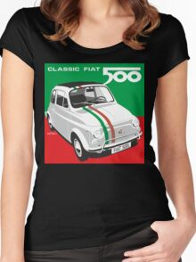 Fiat 500 Italian flag Women's Fitted Scoop T-Shirt