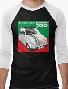 Fiat 500 Italian flag Men's Baseball ¾ T-Shirt