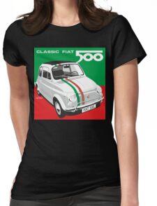 Fiat 500 Italian flag Womens Fitted T-Shirt