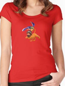Snoop Hunt Dogg Women's Fitted Scoop T-Shirt