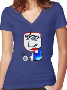 Sergio S. Women's Fitted V-Neck T-Shirt