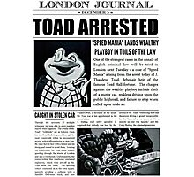 Toad Arrested Newspaper Photographic Print